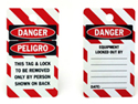Safety Lock Out Tags