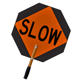 Ultra-Light STOP-SLOW Traffic Control Paddle