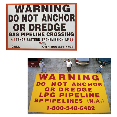Large Format Paneled Warning Sign