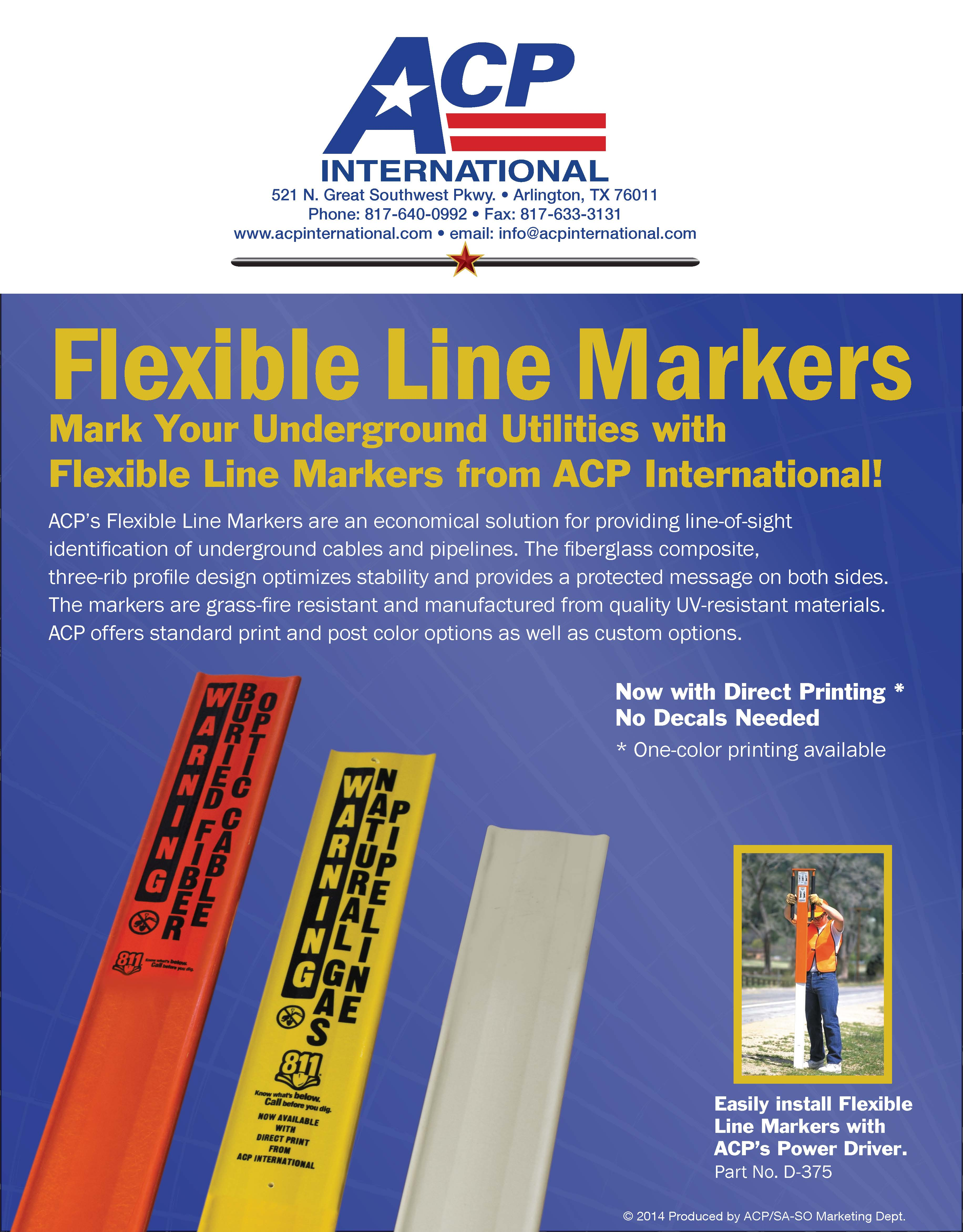 Flexible Line Markers - ACP International